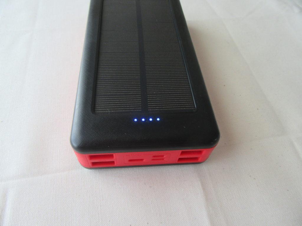 モバイルソーラーバッテリー LED